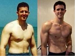 """Rob Poulos : l'auteur avant et après son utilisation de la méthode """"fourneau bruleur de graisse"""""""