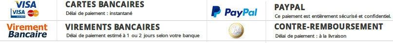 Solutions de paiement pour acheter sur le site de Skinception France en toute sécurité