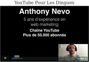 Formation Youtube pour les dingues par Anthony Nevo