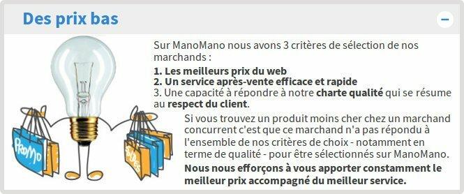 Manomano propose des produits variés à petit prix