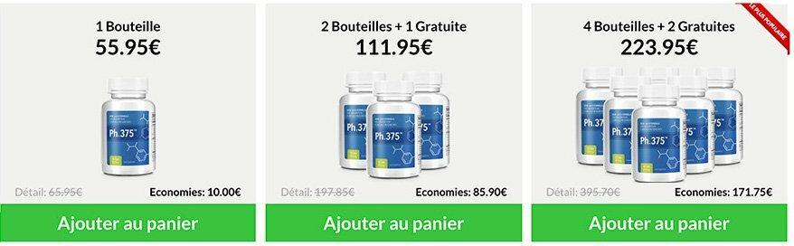 Comment acheter au meilleur prix Ph.375 sur le site officiel ph375 France